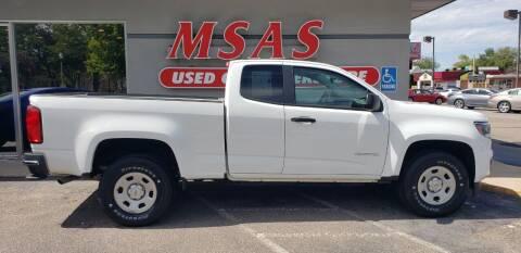 2018 Chevrolet Colorado for sale at MSAS AUTO SALES in Grand Island NE
