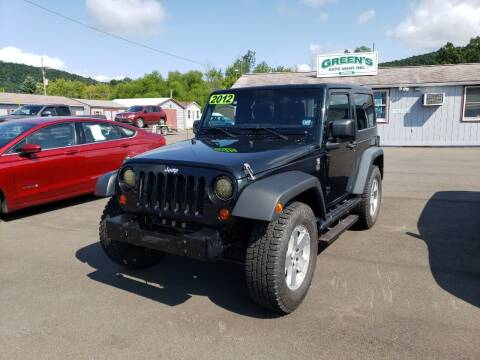 2012 Jeep Wrangler for sale at Greens Auto Mart Inc. in Wysox PA
