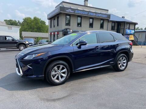 2019 Lexus RX 450h for sale at Sisson Pre-Owned in Uniontown PA