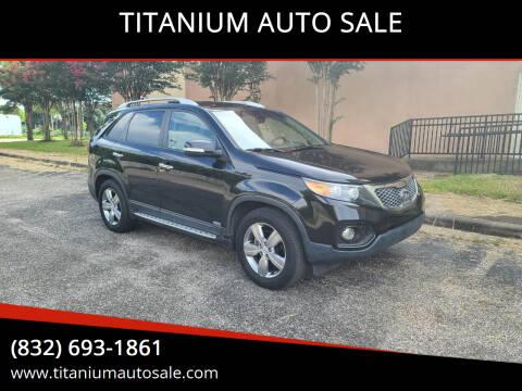 2013 Kia Sorento for sale at TITANIUM AUTO SALE in Houston TX