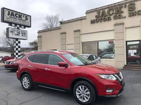2017 Nissan Rogue for sale at JACK'S MOTOR COMPANY in Van Buren AR