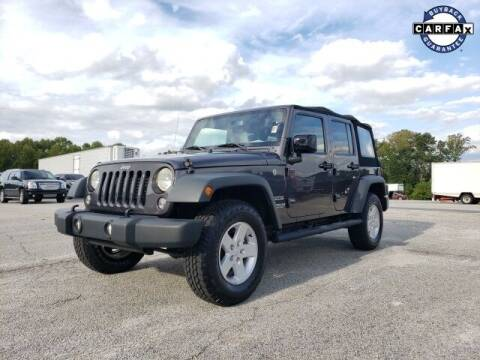 2017 Jeep Wrangler Unlimited for sale at Hardy Auto Resales in Dallas GA
