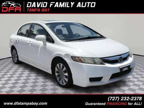 2009 Honda Civic for sale at David Family Auto in New Port Richey FL