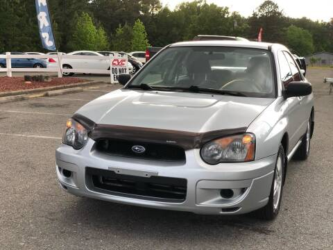 2005 Subaru Impreza for sale at CVC AUTO SALES in Durham NC