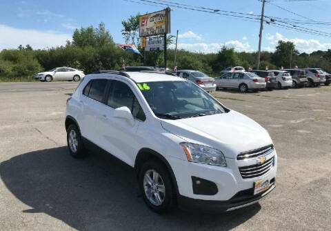 2016 Chevrolet Trax for sale at 21ST CENTURY MOTORS in Gorham ME