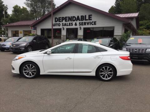 2016 Hyundai Azera for sale at Dependable Auto Sales and Service in Binghamton NY
