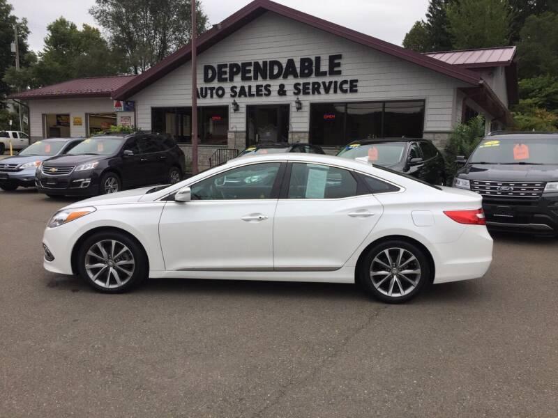 2016 Hyundai Azera for sale at Dependable Auto Sales and Service in Binghamton NY