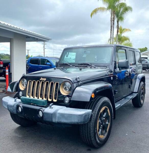 2014 Jeep Wrangler Unlimited for sale at PONO'S USED CARS in Hilo HI