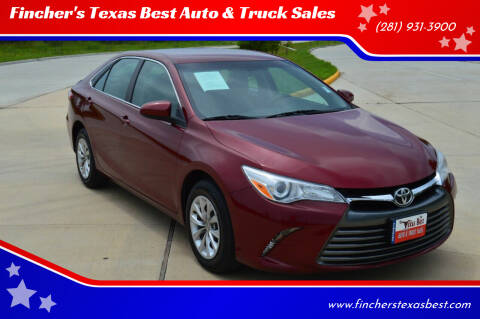 2017 Toyota Camry for sale at Fincher's Texas Best Auto & Truck Sales in Tomball TX