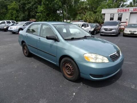 2005 Toyota Corolla for sale at DONNY MILLS AUTO SALES in Largo FL
