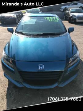 2011 Honda CR-Z for sale at Miranda's Auto LLC in Commerce GA