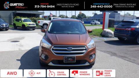 2017 Ford Escape for sale at Quattro Motors 2 in Farmington Hills MI