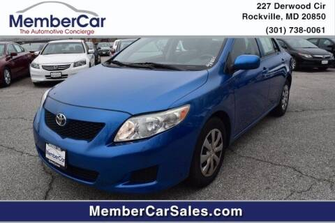 2010 Toyota Corolla for sale at MemberCar in Rockville MD