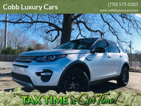2016 Land Rover Discovery Sport for sale at E-Z Auto Finance in Marietta GA
