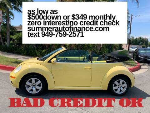 2007 Volkswagen New Beetle Convertible for sale at SUMMER AUTO FINANCE in Costa Mesa CA