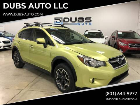 2014 Subaru XV Crosstrek for sale at DUBS AUTO LLC in Clearfield UT