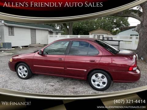 2003 Nissan Sentra for sale at Allen's Friendly Auto Sales in Sanford FL