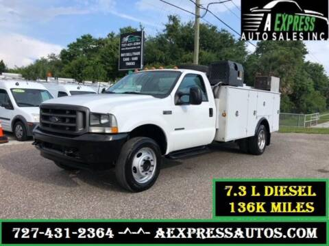 2002 Ford F-550 Super Duty for sale at A EXPRESS AUTO SALES INC in Tarpon Springs FL
