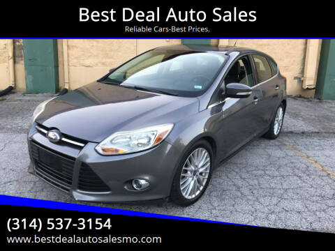 2012 Ford Focus for sale at Best Deal Auto Sales in Saint Charles MO