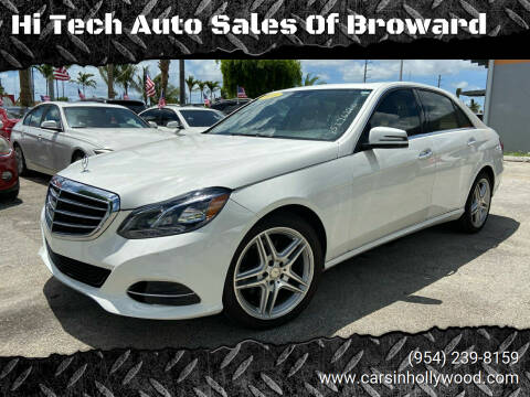 2014 Mercedes-Benz E-Class for sale at Hi Tech Auto Sales Of Broward in Hollywood FL