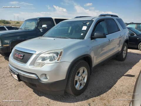 2009 GMC Acadia for sale at PYRAMID MOTORS - Pueblo Lot in Pueblo CO