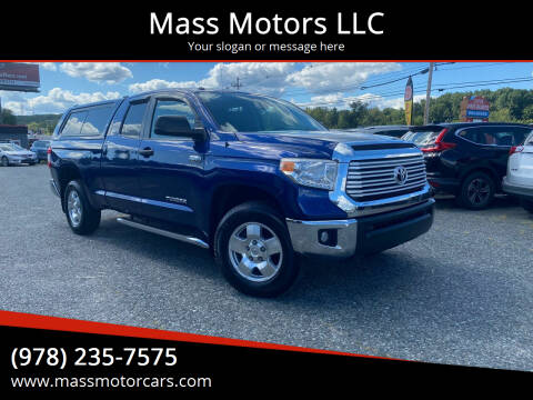 2015 Toyota Tundra for sale at Mass Motors LLC in Worcester MA