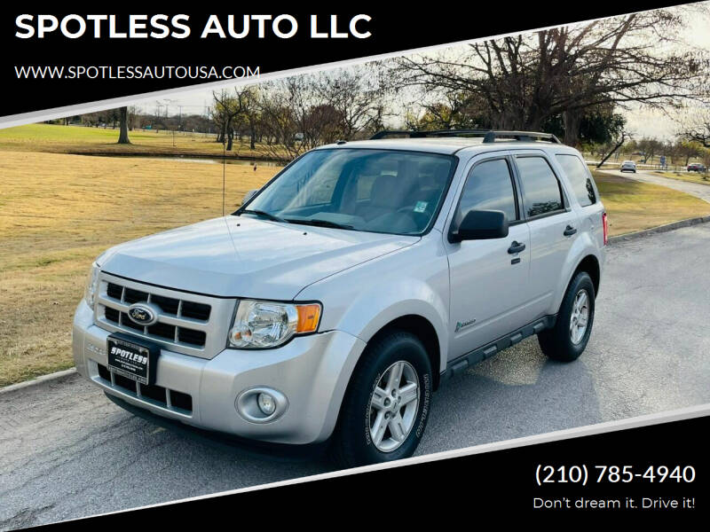 2011 Ford Escape Hybrid for sale at SPOTLESS AUTO LLC in San Antonio TX