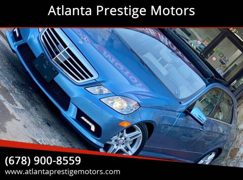 2011 Mercedes-Benz E-Class for sale at Atlanta Prestige Motors in Decatur GA