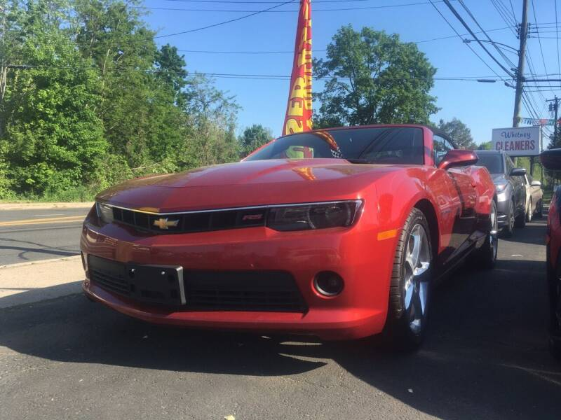 2015 Chevrolet Camaro for sale at MELILLO MOTORS INC in North Haven CT