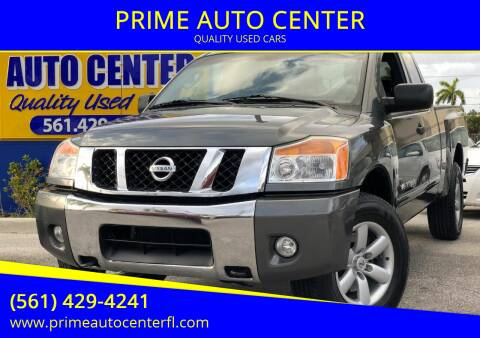 2010 Nissan Titan for sale at PRIME AUTO CENTER in Palm Springs FL