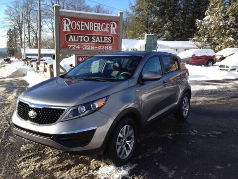 2016 Kia Sportage for sale at Rosenberger Auto Sales LLC in Markleysburg PA