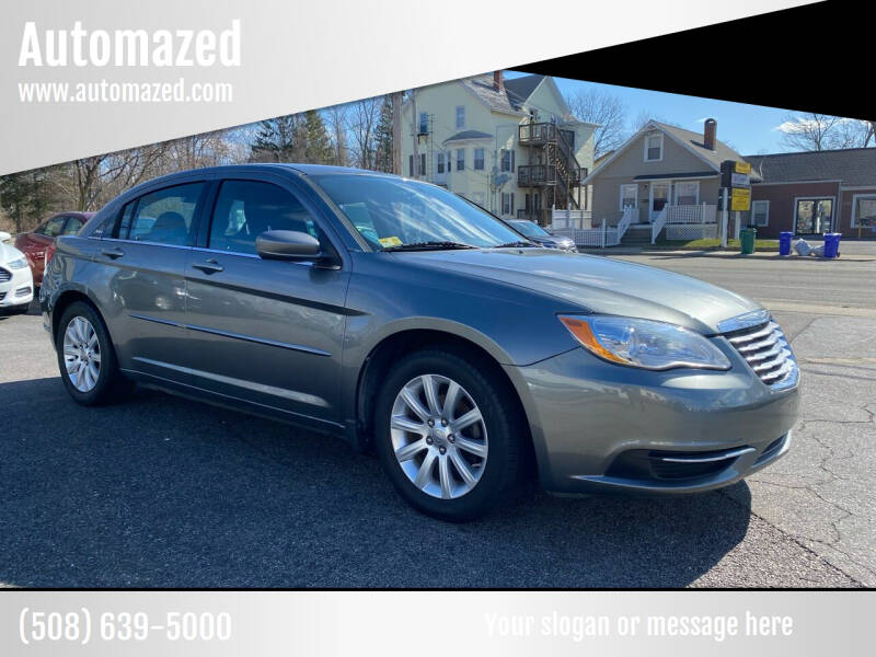 2013 Chrysler 200 for sale at Automazed in Attleboro MA