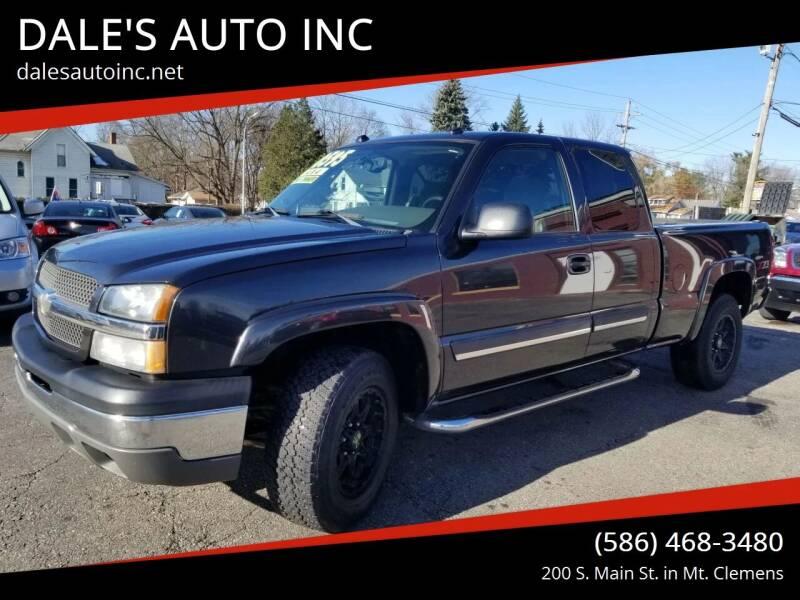 2004 Chevrolet Silverado 1500 for sale at DALE'S AUTO INC in Mt Clemens MI