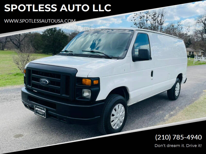 2009 Ford E-Series Cargo for sale at SPOTLESS AUTO LLC in San Antonio TX