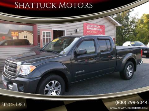 2010 Suzuki Equator for sale at Shattuck Motors in Newport VT