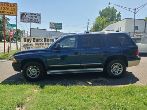 2001 Dodge Durango for sale at Cherokee Auto Sales in Knoxville TN