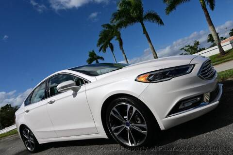 2017 Ford Fusion for sale at MOTORCARS in West Palm Beach FL