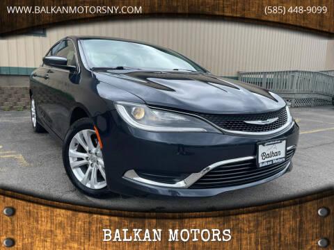 2017 Chrysler 200 for sale at BALKAN MOTORS in East Rochester NY