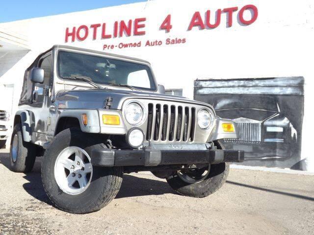 2004 Jeep Wrangler for sale at Hotline 4 Auto in Tucson AZ