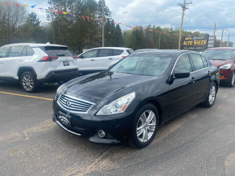 2012 Infiniti G25 Sedan for sale at Affordable Auto Sales in Webster WI