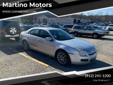 2009 Ford Fusion for sale at Martino Motors in Pittsburgh PA