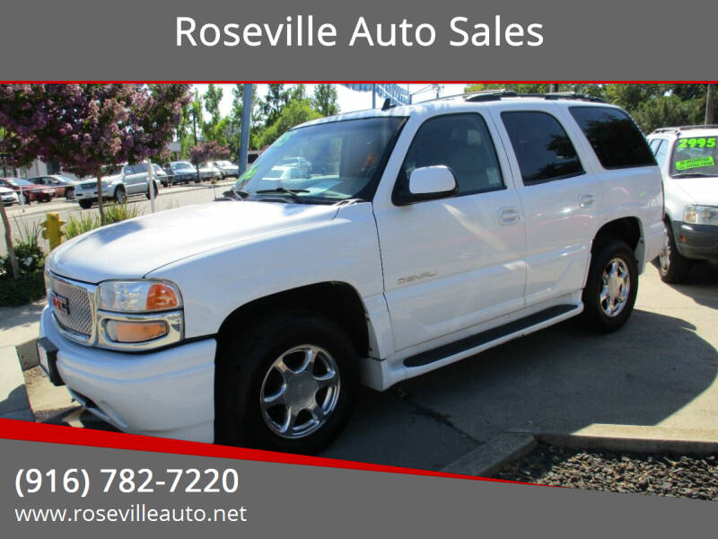 2006 GMC Yukon for sale at Roseville Auto Sales 131 in Roseville CA