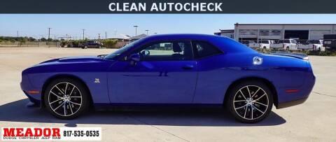 2018 Dodge Challenger for sale at Meador Dodge Chrysler Jeep RAM in Fort Worth TX