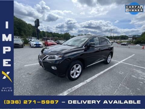 2013 Lexus RX 350 for sale at Impex Auto Sales in Greensboro NC