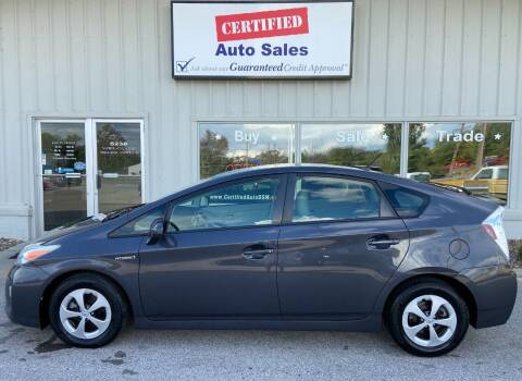 2013 Toyota Prius for sale at Certified Auto Sales in Des Moines IA
