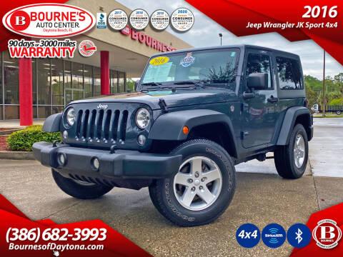 2016 Jeep Wrangler for sale at Bourne's Auto Center in Daytona Beach FL