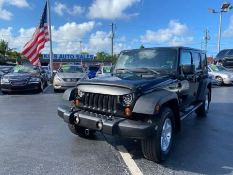 2013 Jeep Wrangler Unlimited for sale at KD's Auto Sales in Pompano Beach FL