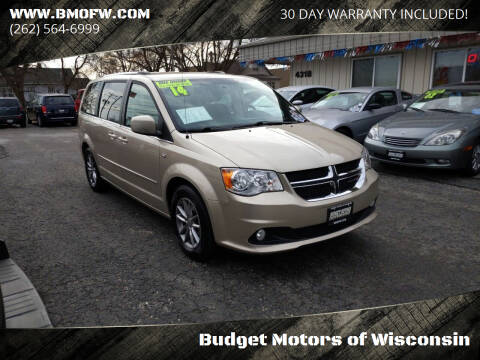 2014 Dodge Grand Caravan for sale at Budget Motors of Wisconsin in Racine WI