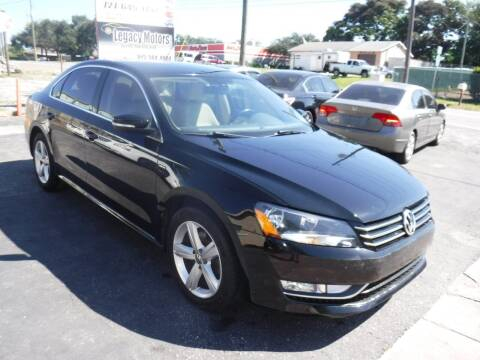 2015 Volkswagen Passat for sale at LEGACY MOTORS INC in New Port Richey FL