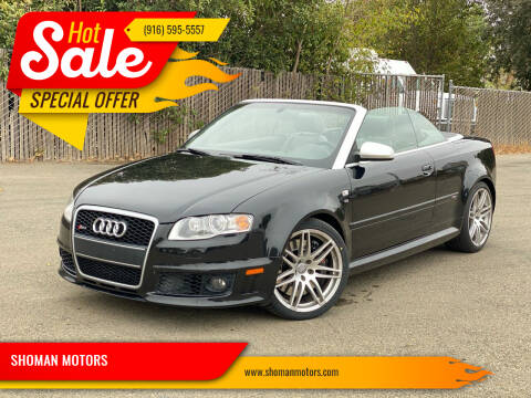 2008 Audi RS 4 for sale at SHOMAN MOTORS in Davis CA